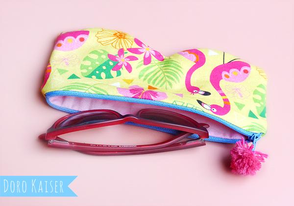 """Brillentasche """"Pink Flamingo"""""""
