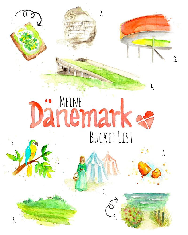 Meine Bucket List für den Dänemark Urlaub: 9 Dinge, die ich unbedingt in Mitteljütland machen möchte, mit Beschreibung und Illustration | www.dorokaiser.online.de